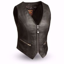 Picture of First Mfg. Ladies Leather Vest - Montana