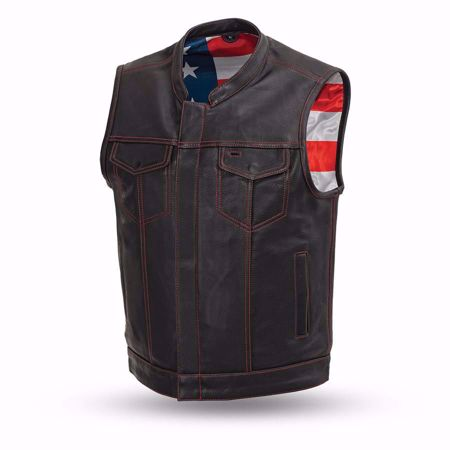 Picture of First Mfg Men's Leather Vest - Born Free