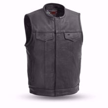Picture of First Mfg. Men's Leather Vest - No Rival