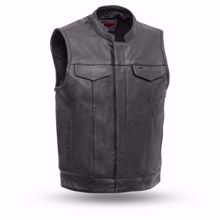 Picture of First Mfg. Men's Leather  Vest - Sharp Shooter
