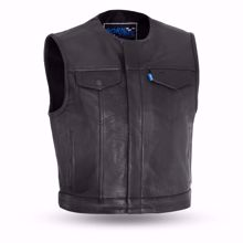 Picture of First Mfg. Men's Leather Vest - Lowside