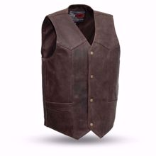 Picture of First Mfg. Men's Leather Vest - Texan