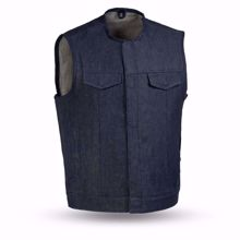 Picture of First Mfg. Men's Denim Vest - Haywood - Blue
