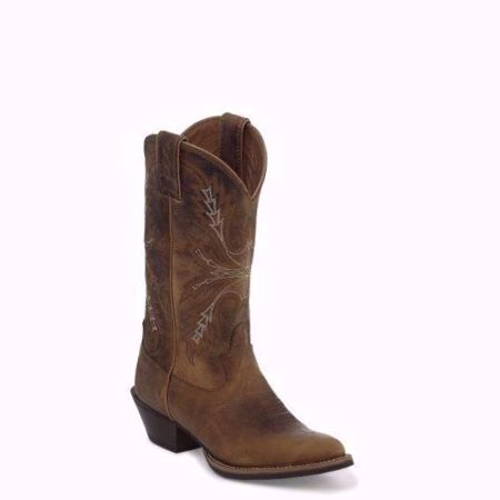 Picture of Justin Women's Quinlan Tan Round Toe