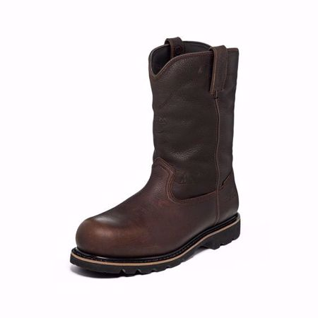 Picture of Justin Men's Miner Brown Composition Toe (Safety Toe)