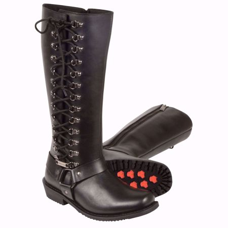 """Picture of Milwaukee Women's 14"""" Classic Harness Square Toe Leather Riding Boot"""