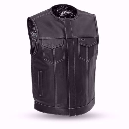 Picture of First Mfg. Men's Leather Vest - Bandit - Red or Black