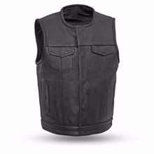 Picture of First Mfg. Men's Leather Vest - Highside