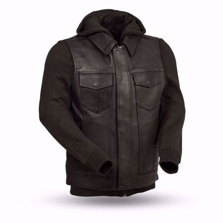 Picture of First Mfg. Men's Leather Vest with Sweatshirt - Kent