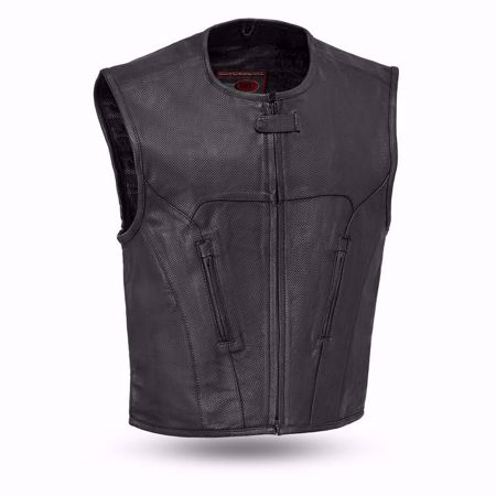 Picture of First Mfg. Men's Leather Vest - Raceway