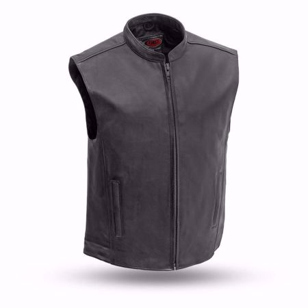 Picture of First Mfg. Men's Leather Vest - Club House