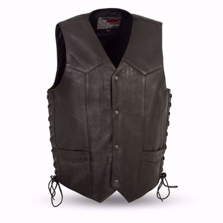 Picture of First Mfg. Men's Leather Vest - Rancher