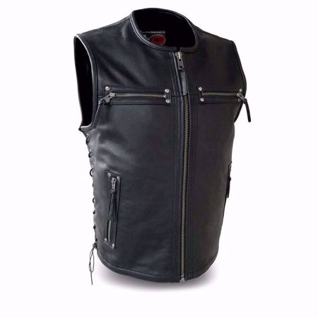 Picture of First Mfg. Men's Leather Vest - Brawler