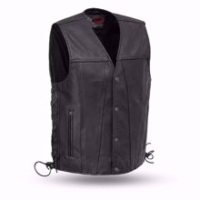 Picture of First Mfg. Men's Leather Vest - Gambler