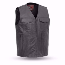 Picture of First Mfg. Men's Leather Vest - Badlands