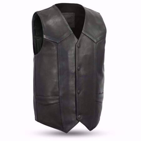 Picture of First Mfg. Men's Leather Vest - Tombstone
