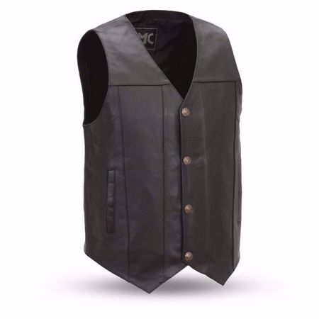 Picture of First Mfg. Men's Leather Vest - Gun Runner