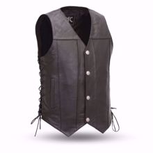 Picture of First Mfg. Men's Leather Vest - Gun Slinger