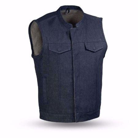Picture of First Mfg. Men's Denim Vest - Kershaw - Blue