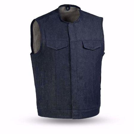 Picture of First Mfg. Men's Denim Vest - Haywood - Blue
